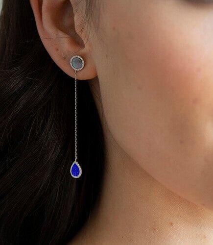 Lapis Lazuli Drop Earring