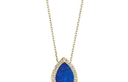 Lapis Lazuli Diamond Necklace
