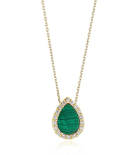 Malachite Diamond Necklace