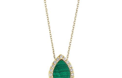 Malachite Diamond Necklace
