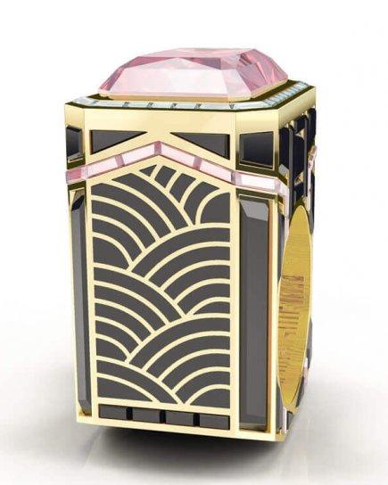 Pink Sapphire Art Deco Ring