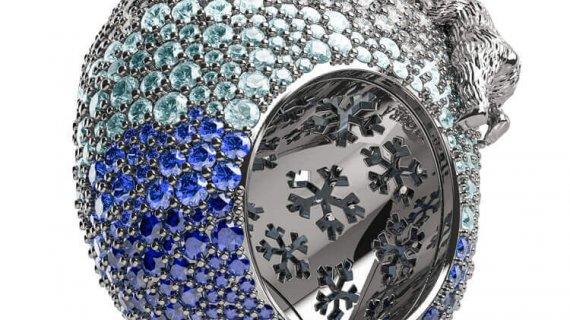 Aquamarine, Sapphire And Diamond Ring