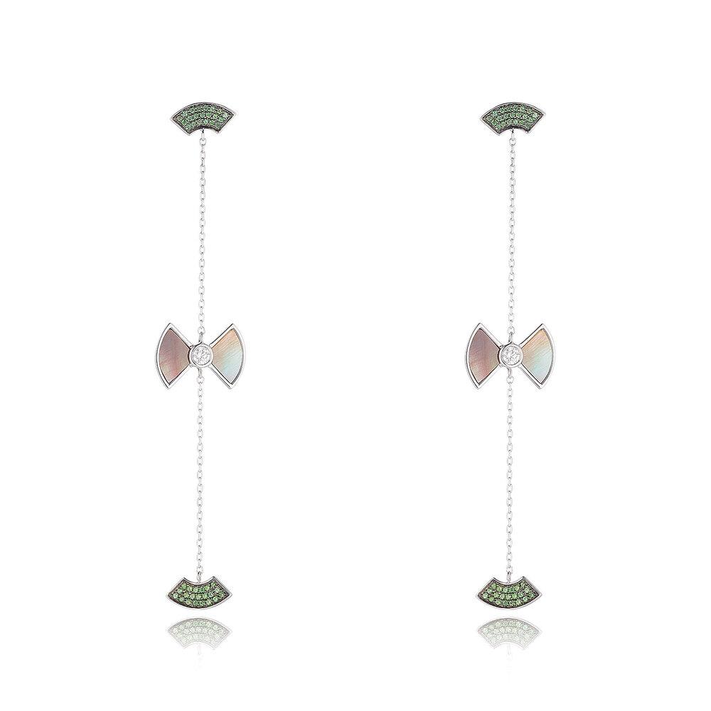Tsavorite Drop Earrings