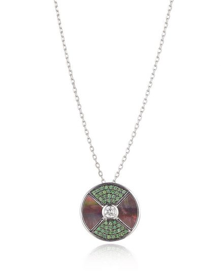 Tsavorite Garnet Diamond Necklace