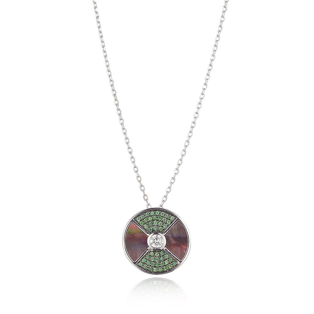 Tsavorite Garnet Diamond Necklace