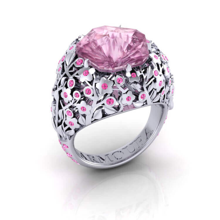 Cherry Blossom Ring With Sapphires