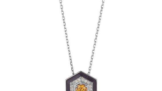 Diamond Hexagon Necklace