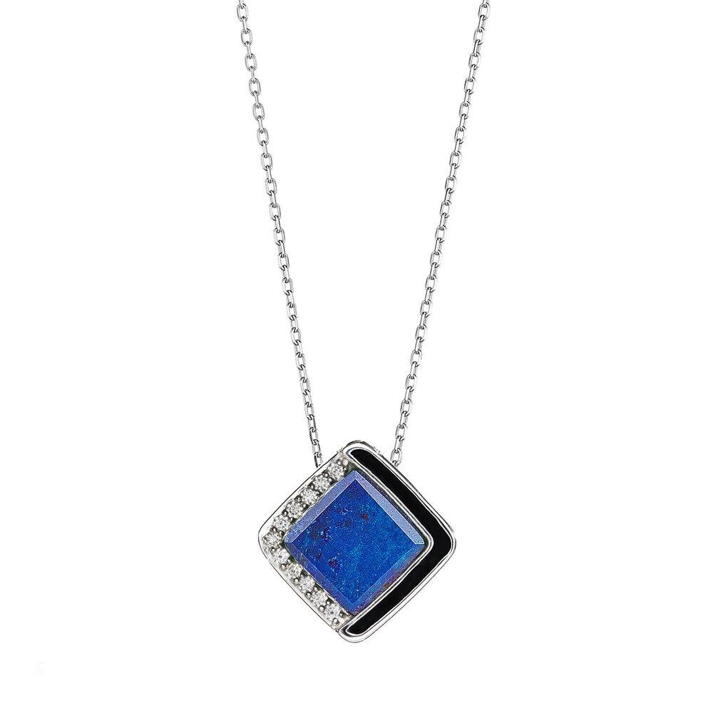 Diamond Lapis Lazuli Necklace