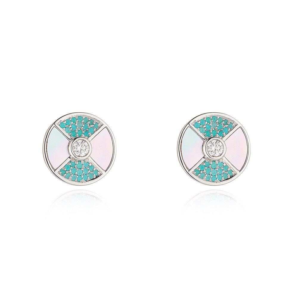 Paraiba Stud Earrings