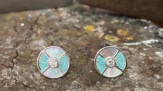 Diamond And Paraiba Earrings
