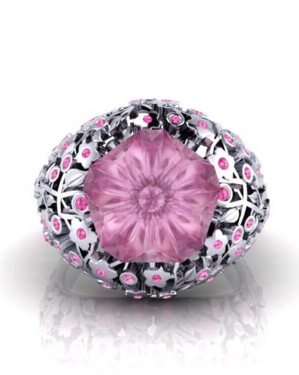 Cherry Blossom Sapphire Ring