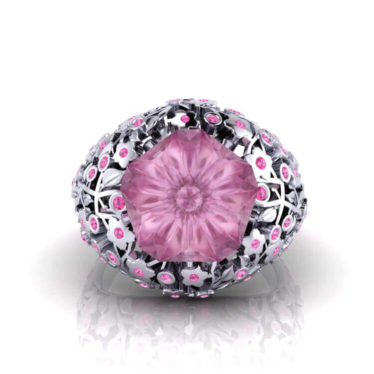 Cherry Blossom Sapphire Ring
