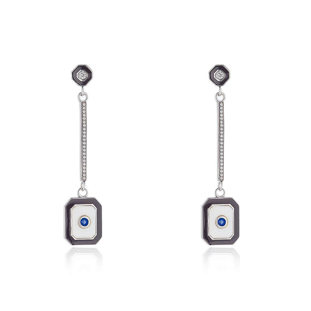 Sapphire Diamond Drop Earrings