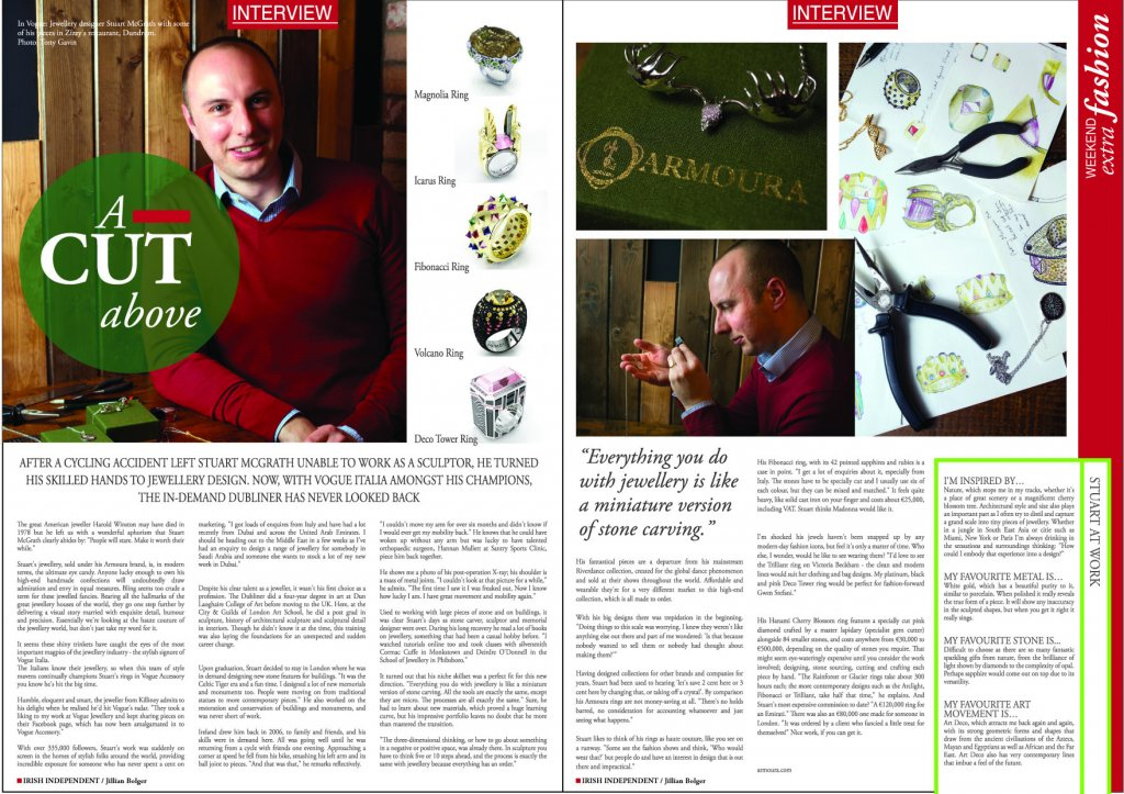 Irish Jewellery Designer, Irish Independent