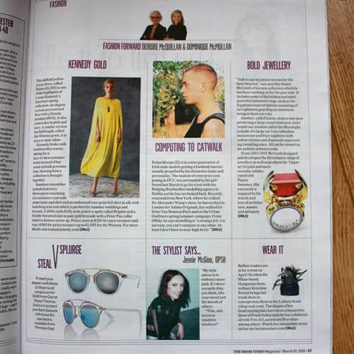 Irish Times Irish Jewellery Designer