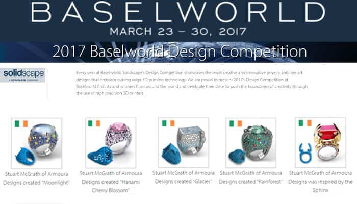 Award Winning Irish Jewellery Designer, Basel, Switzerland