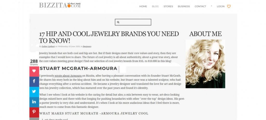 Bizzita Jewelry Blog Article Irish Designer